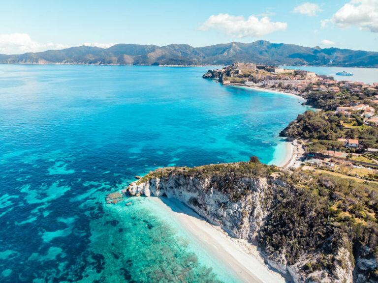 La costa e il mare dell'Isola d'Elba