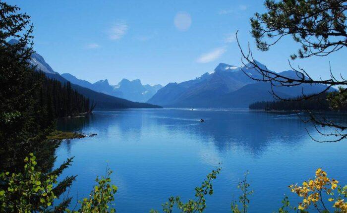 Lago della Columbia Britannica in Canada